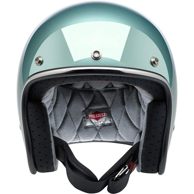 Biltwell Inc Bonanza Silver Motorcycle Helmet XS-2XL