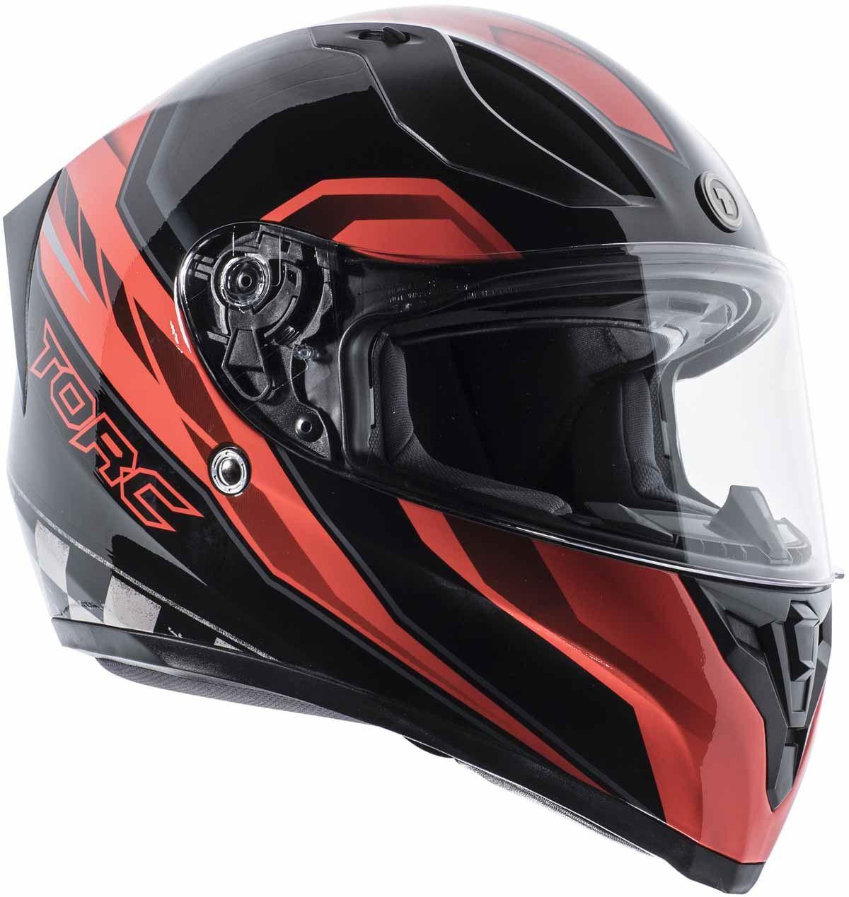 miniature 24 - Torc T15 T15B Helmet Bluetooth Blinc or without - Inner Sun Shield DOT XS-2XL