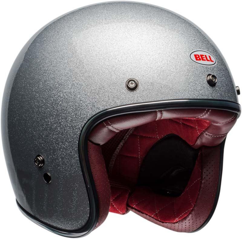 Bell-Custom-500-Helmet-3-4-Open-Face-Vintage-Retro-Motorcycle-5-Snap-XS-2XL miniature 21