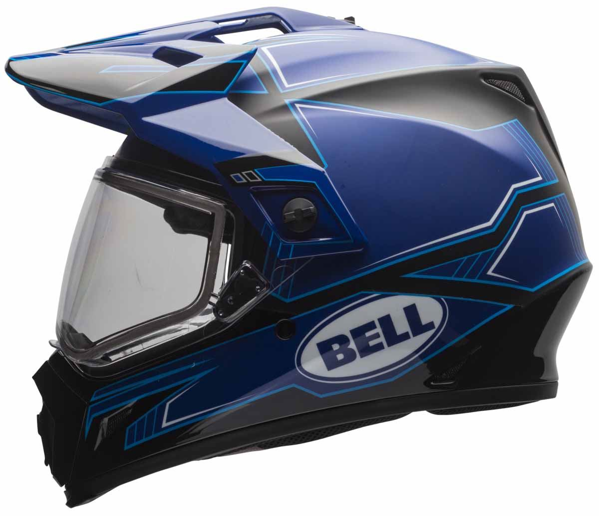 bell mx 9 adv snow helmet snowmobile adventure dual lens or electric shield dot ebay. Black Bedroom Furniture Sets. Home Design Ideas