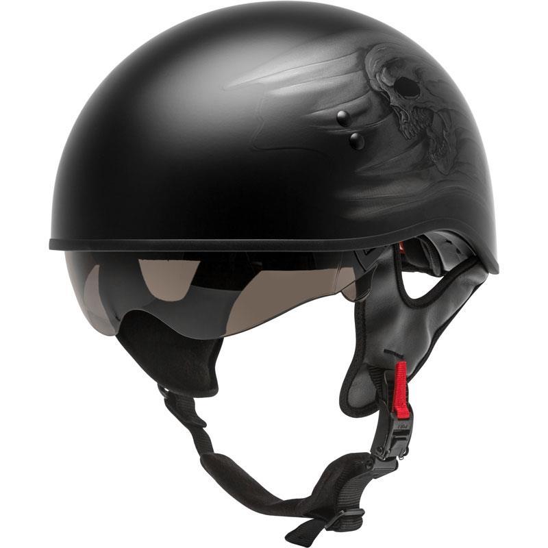 Gmax HH-65 Half Helmet Naked/Full Dressed Inner Shield