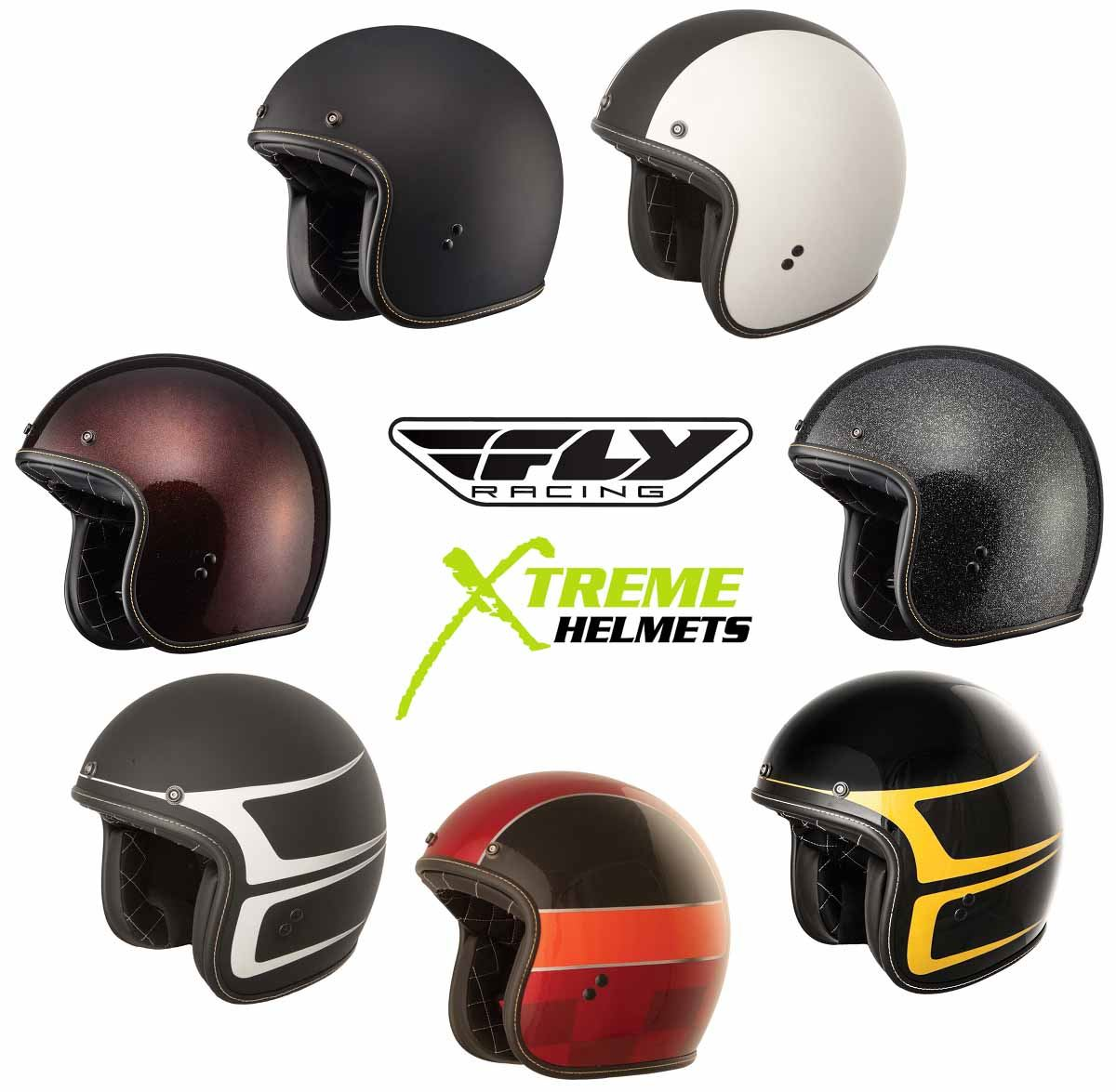 Fly Racing .38 Solid Mens Street Motorcycle Helmets