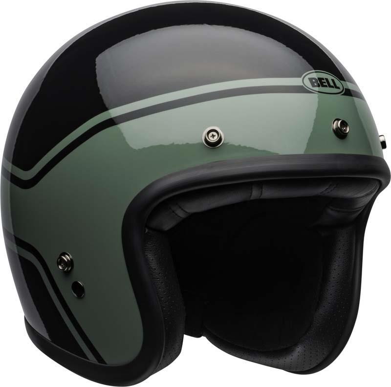 Bell-Custom-500-Helmet-3-4-Open-Face-Vintage-Retro-Motorcycle-5-Snap-XS-2XL miniature 29