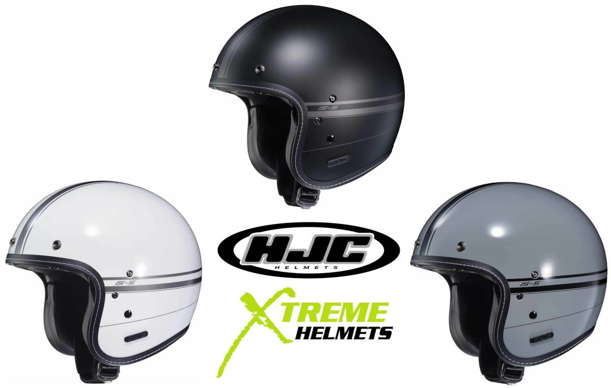 HJC IS-5 Burn Out MC-5SF Open Face Helmet Free Size Exchanges