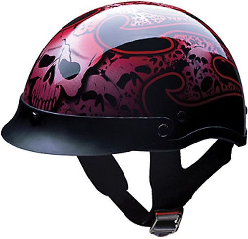 miniature 19 - HCI 100 Half Helmet Motorcycle Shorty with Visor DOT Approved XS S M L XL 2XL