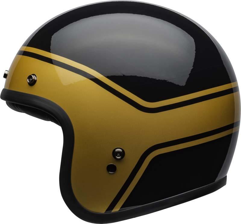 Bell-Custom-500-Helmet-3-4-Open-Face-Vintage-Retro-Motorcycle-5-Snap-XS-2XL miniature 45