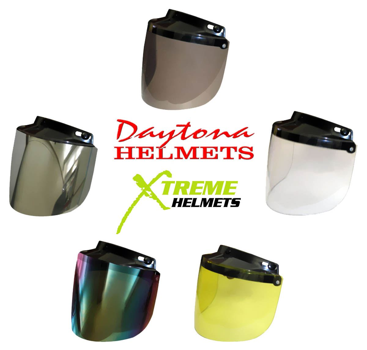 4e3cd808a3a Daytona Flip Up Shield 3 Snap Visor for Skull Cap or Cruiser Helmet ...