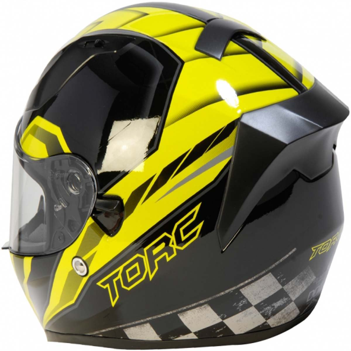 miniature 20 - Torc T15 T15B Helmet Bluetooth Blinc or without - Inner Sun Shield DOT XS-2XL