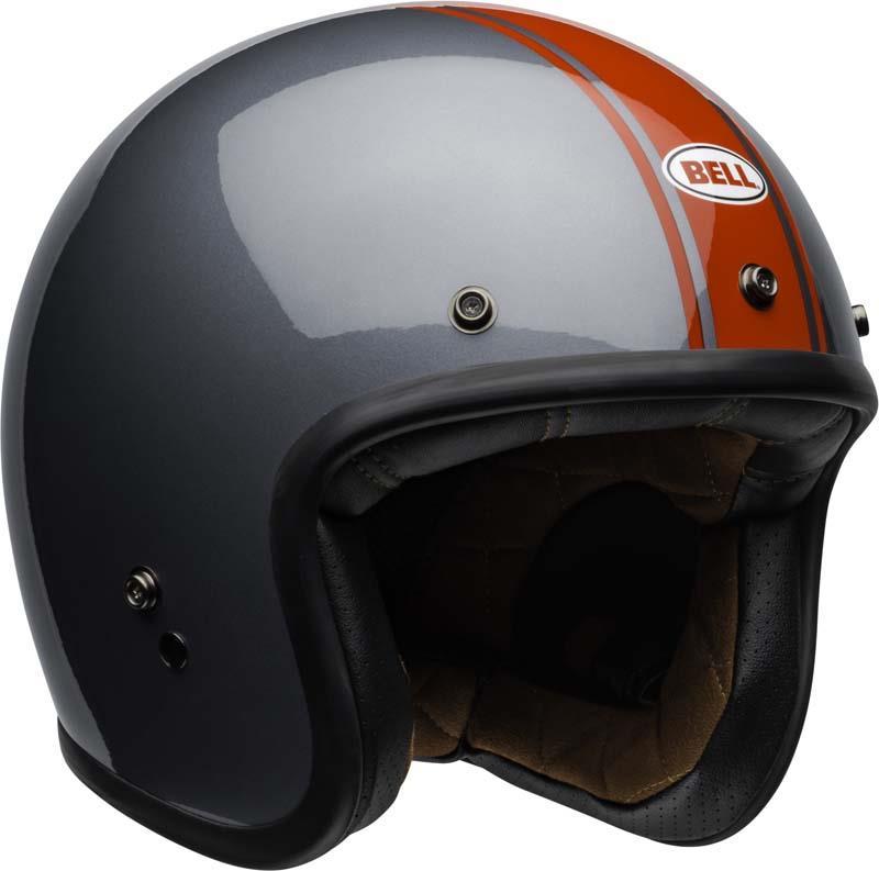 Bell-Custom-500-Helmet-3-4-Open-Face-Vintage-Retro-Motorcycle-5-Snap-XS-2XL miniature 58