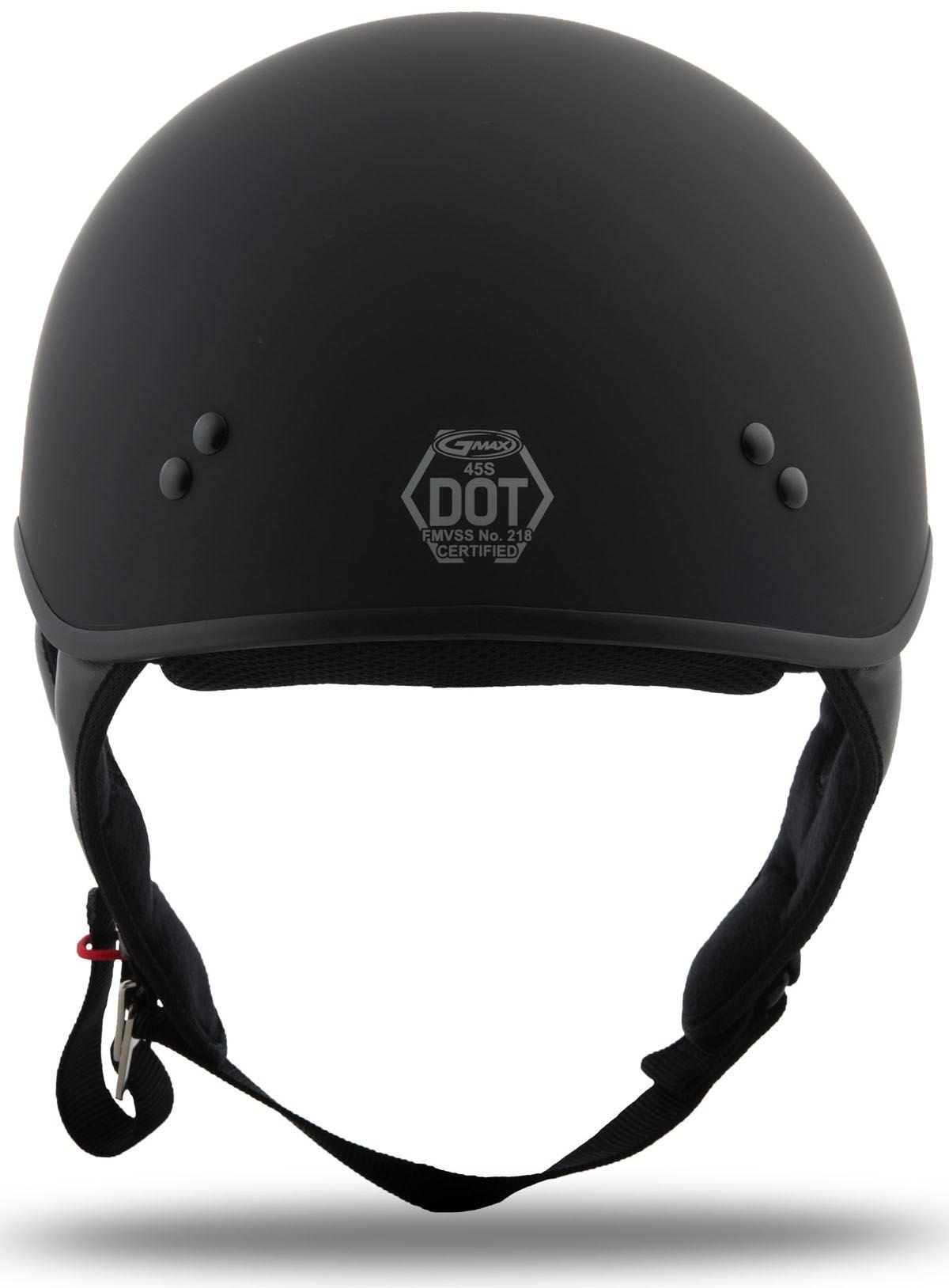 GMAX GM 65 Solid Naked Half Helmet Flat Black 2XL G1650078