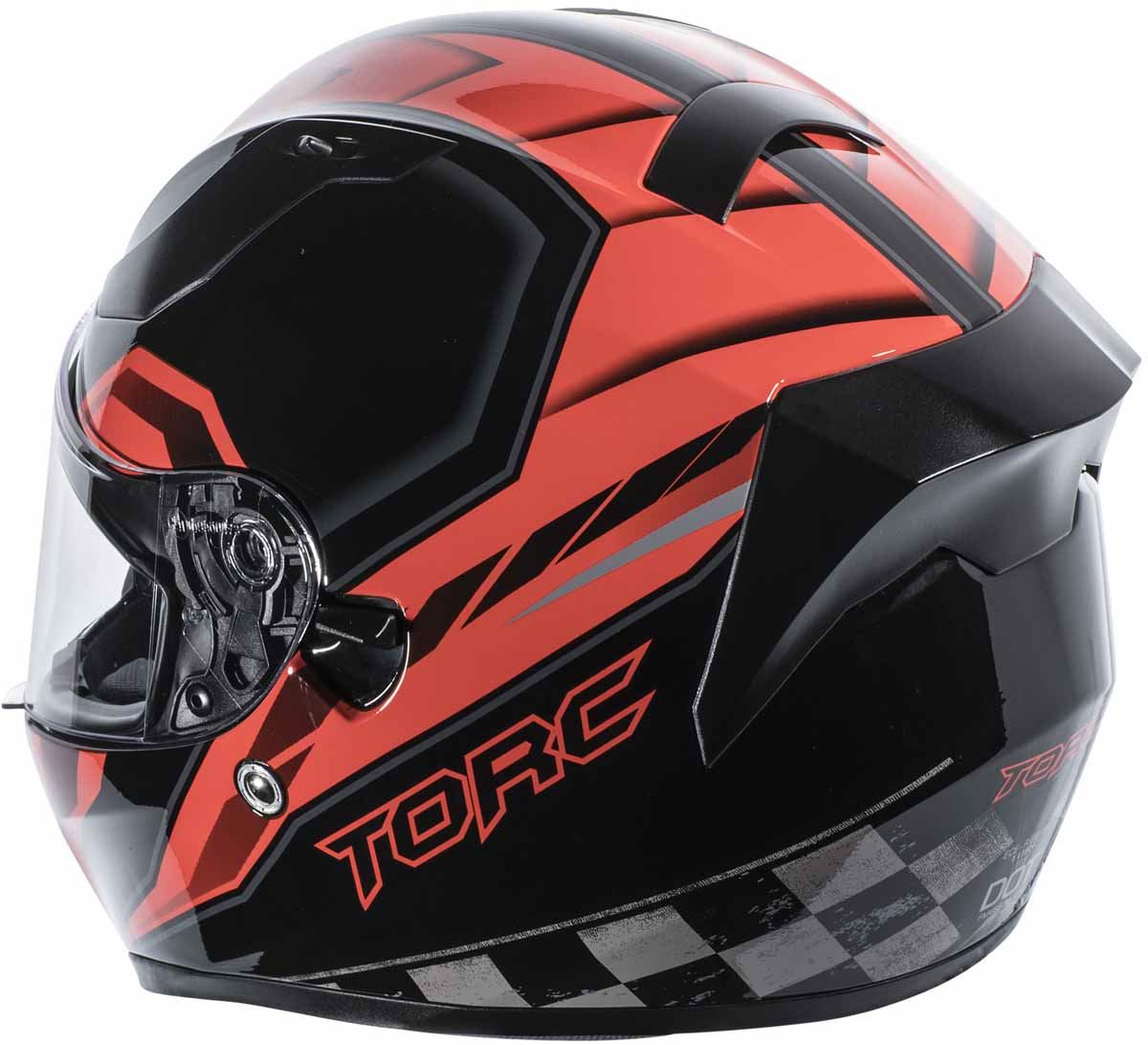 miniature 25 - Torc T15 T15B Helmet Bluetooth Blinc or without - Inner Sun Shield DOT XS-2XL