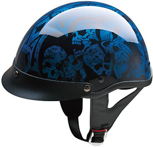 miniature 17 - HCI 100 Half Helmet Motorcycle Shorty with Visor DOT Approved XS S M L XL 2XL