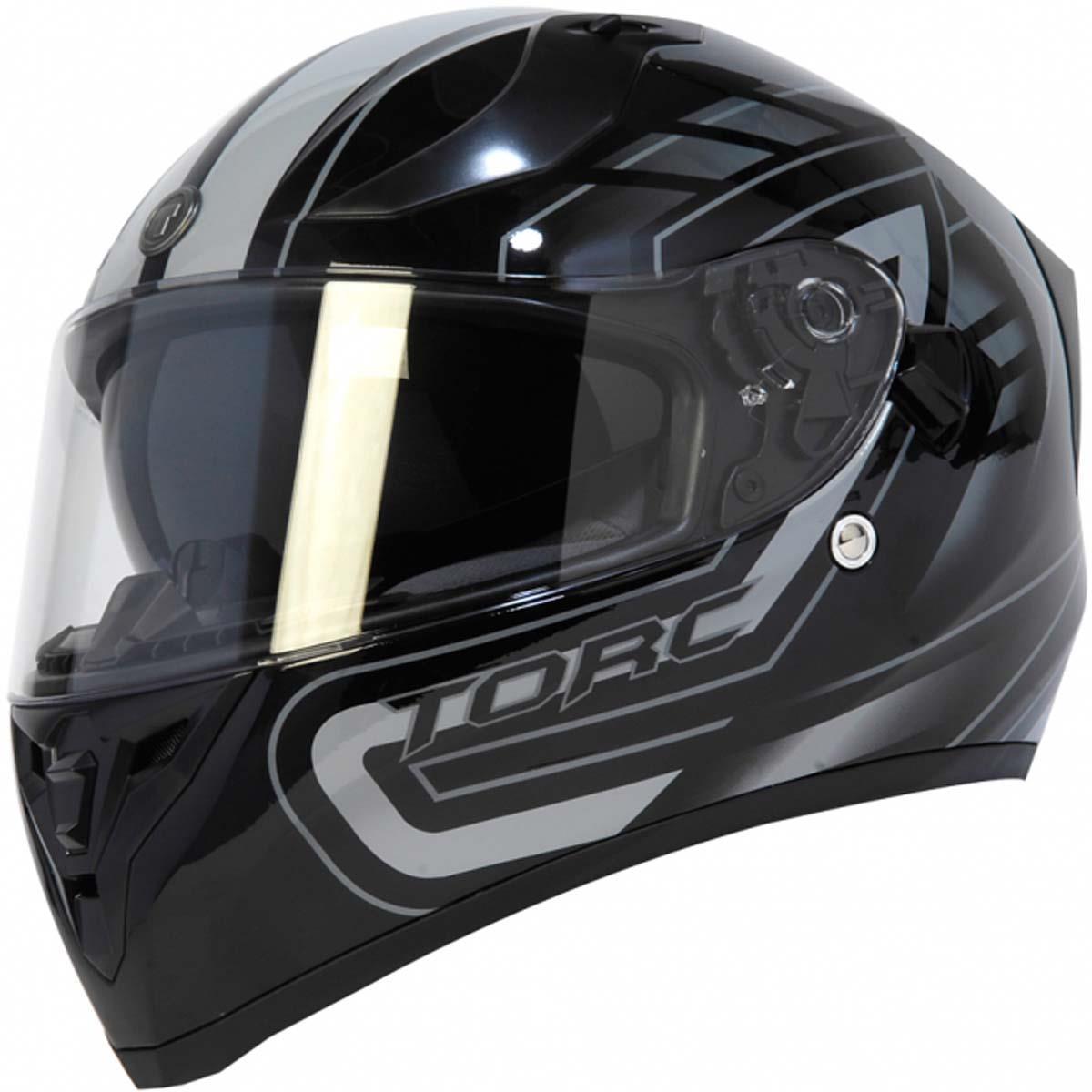 miniature 33 - Torc T15 T15B Helmet Bluetooth Blinc or without - Inner Sun Shield DOT XS-2XL