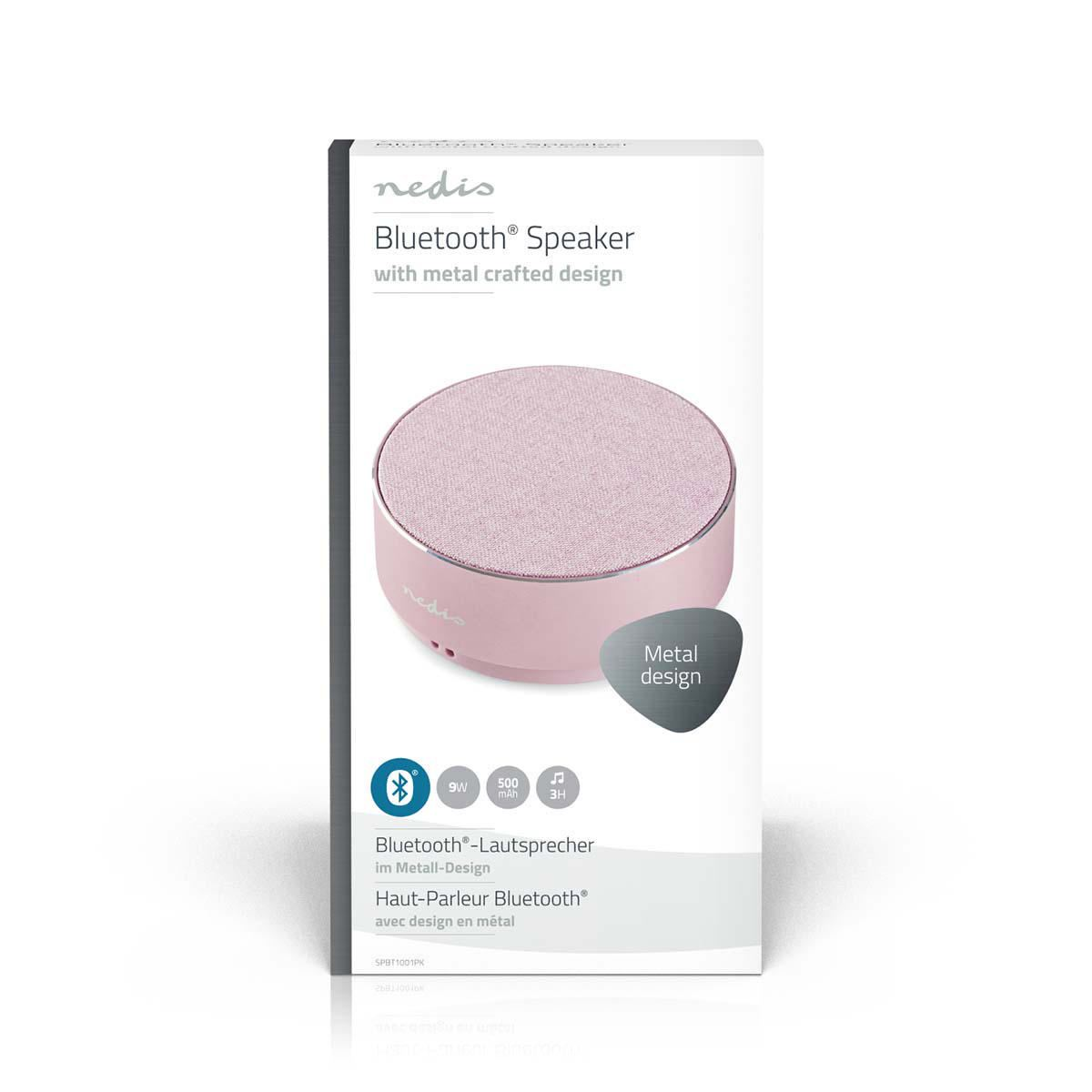 Altavoz-Bluetooth-Inalambrico-Portatil-Rosa-Microfono-de-Oro-Rosa-Macbook-PC-Laptop-Tablet