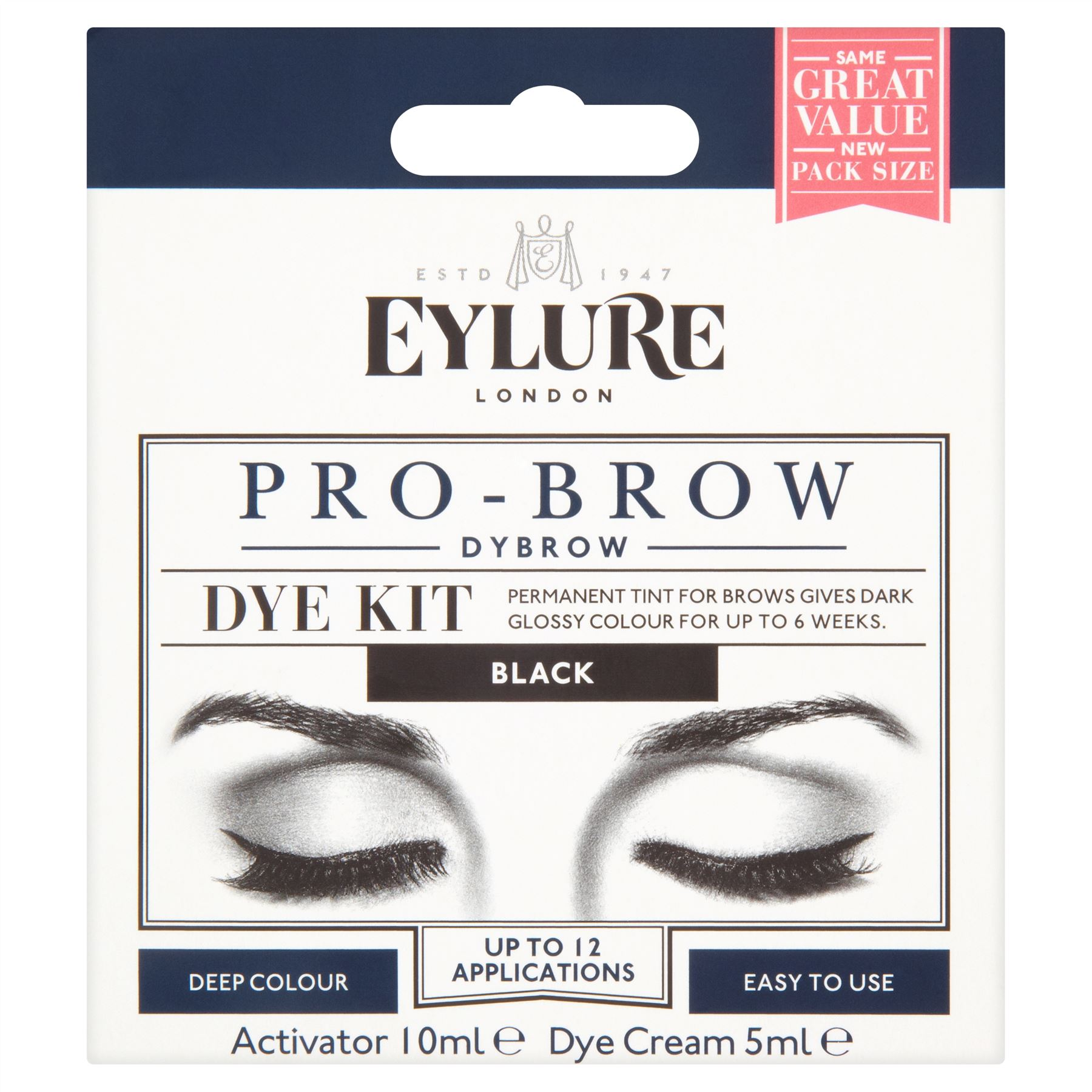 264b92b5e30 Eylure Dybrow | Dark Brown & Black Eyebrow Dye Kit (Previously ...