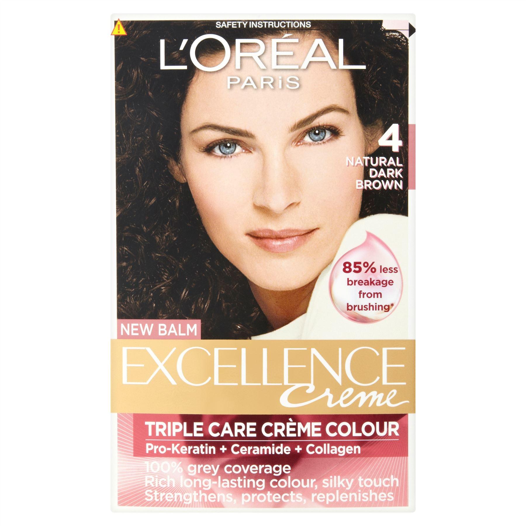 3 x L'Oreal Paris Excellence Creme Triple Care Creme Colour 4 ...