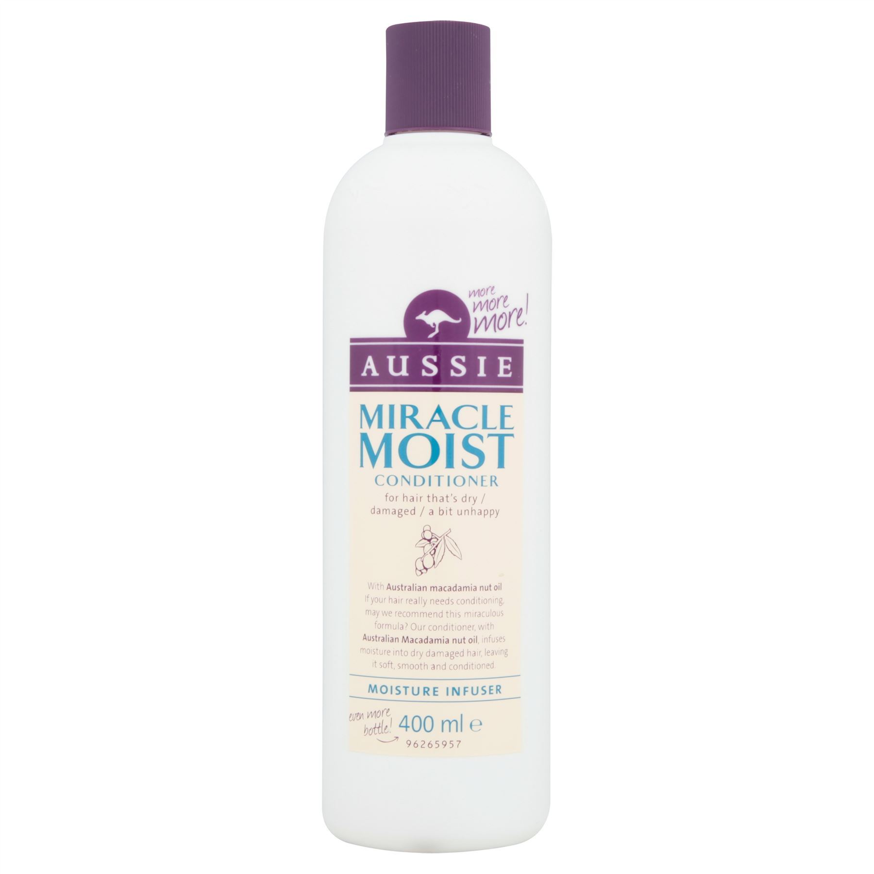 842c8f8b541 Details about 6 Packs of Aussie Miracle Moist Conditioner 400ml