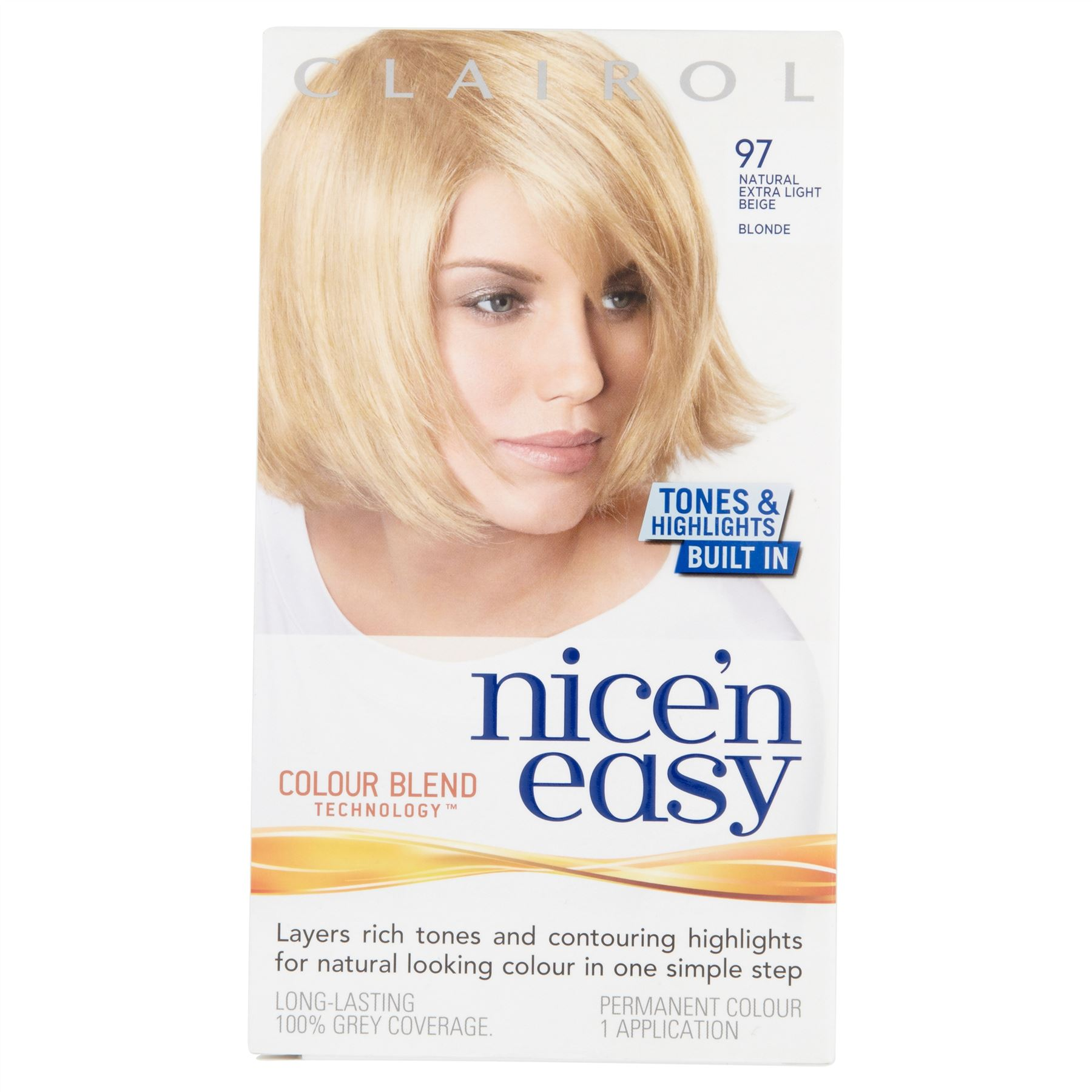 3 X Clairol Nicen Easy Permanent Hair Colour Extra Light Beige