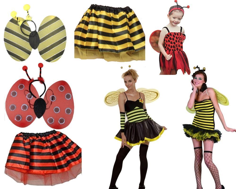 Onorevoli Ragazze LADY BIRD Bumble Bee TU TU Gon na Wings BOPPER Costume