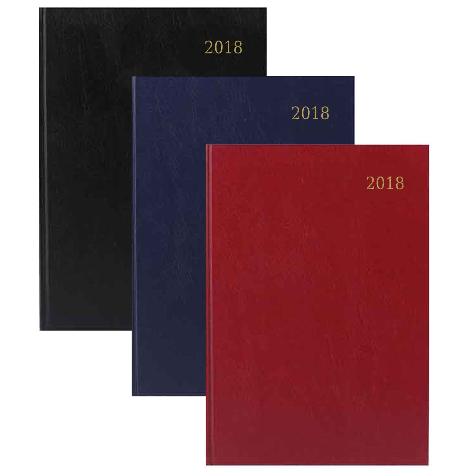 Diaries for 2018 with Hard Back Cover A5 Day to Page Diary