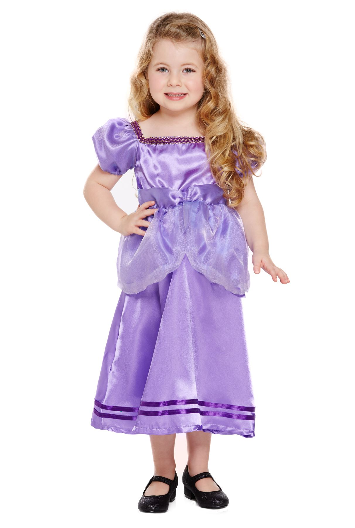 Purple Princess Toddler Fancy Dress Fairy Tale Book Day Girls Infant Costume New