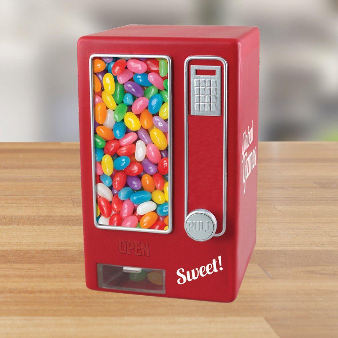 Dettagli su Global Gizmos retrò stile Dolce Mini Distributore Caramelle Dispenser, Rosso mostra il titolo originale
