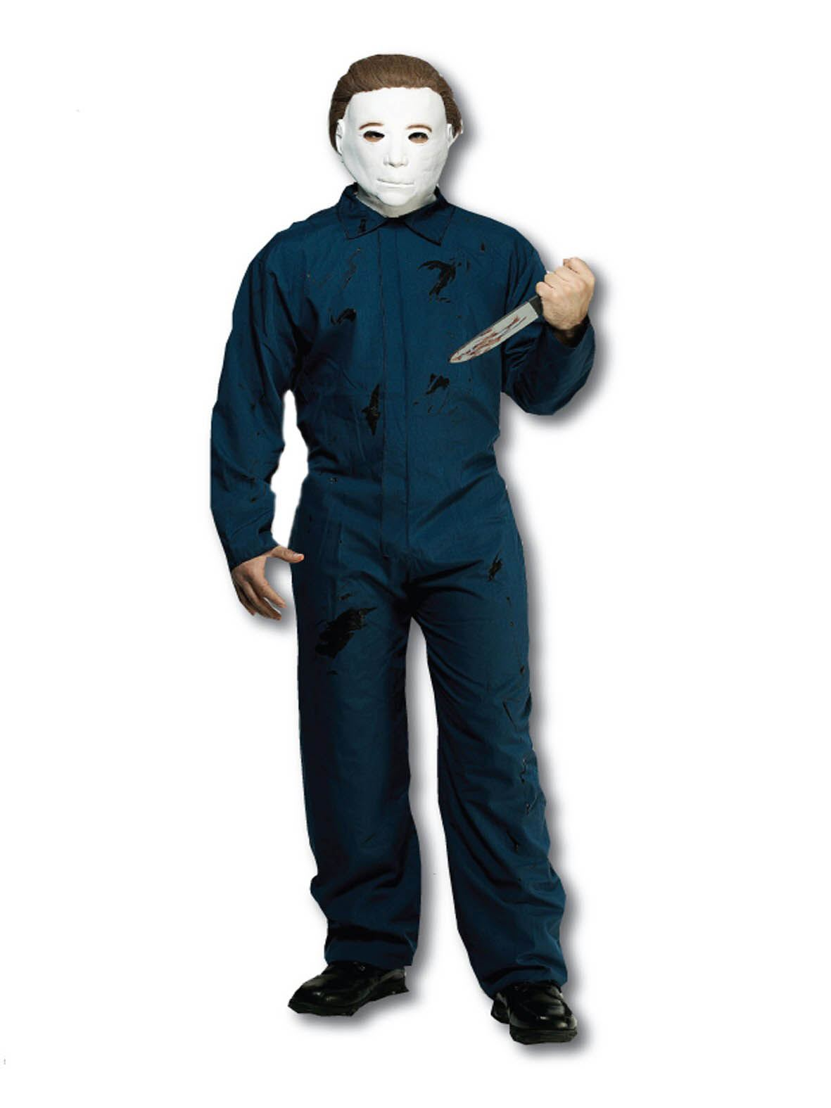 halloween movie michael myers costume boiler suit and mask blood
