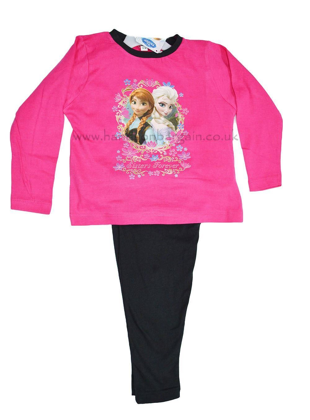 Kids Girls Disney Frozen Elsa Anna Nightwear Top