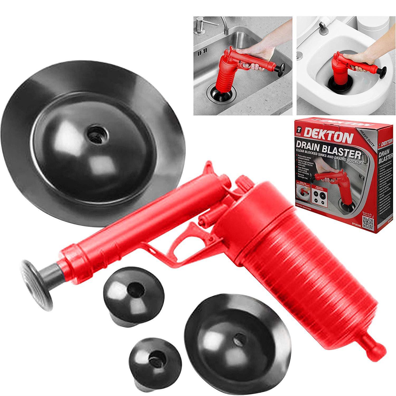 Dekton Air Pump Drain Blaster Sink, Bath & Toilet Plunger ...