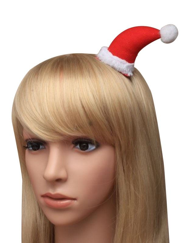 Christmas Hat Hair Band Headband Santa Alice Elf