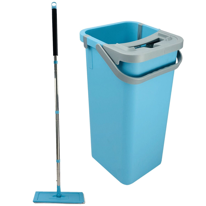 Flat Microfibre Mop /& Bucket Set 360° Cleaning Corner Towel Mop pads Cloth Head
