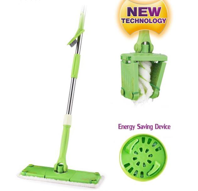 New Design Twist Mop Squeeze Easy Rinse Saving Effort Microfiber