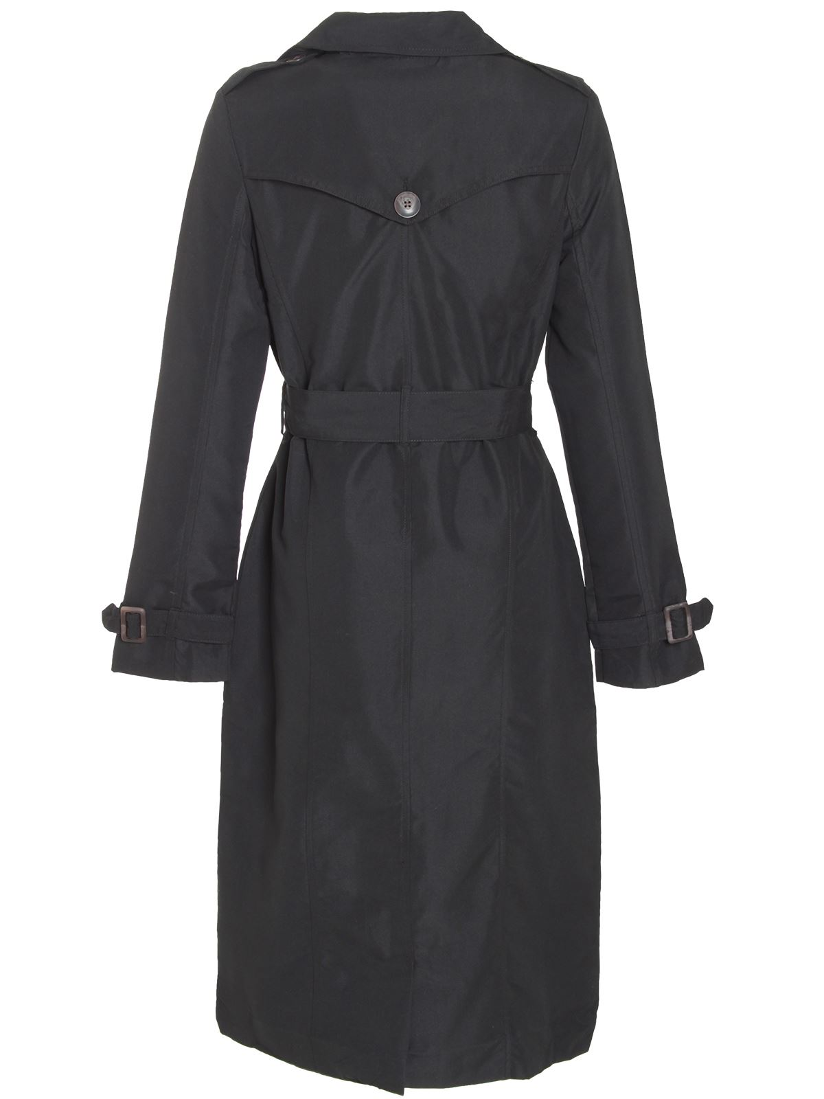 Ladies-Womens-Double-Breasted-Buckle-Belted-Maxi-Trench-Mac-Coat-Jacket