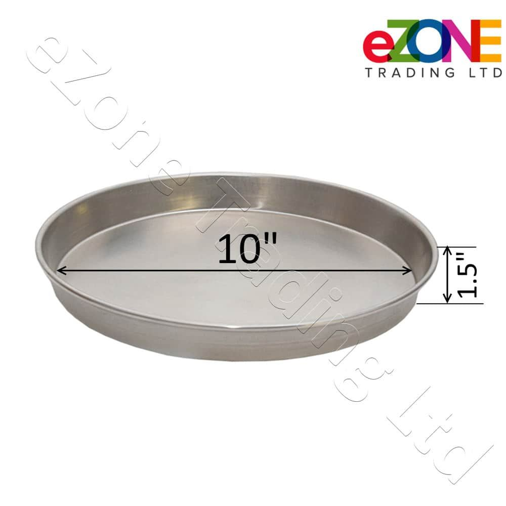 Aluminium-Deep-Pizza-Pan-Baking-Tray-Dish-9-10-12-034-RIM-1-5-034-commercial-Quality miniature 8