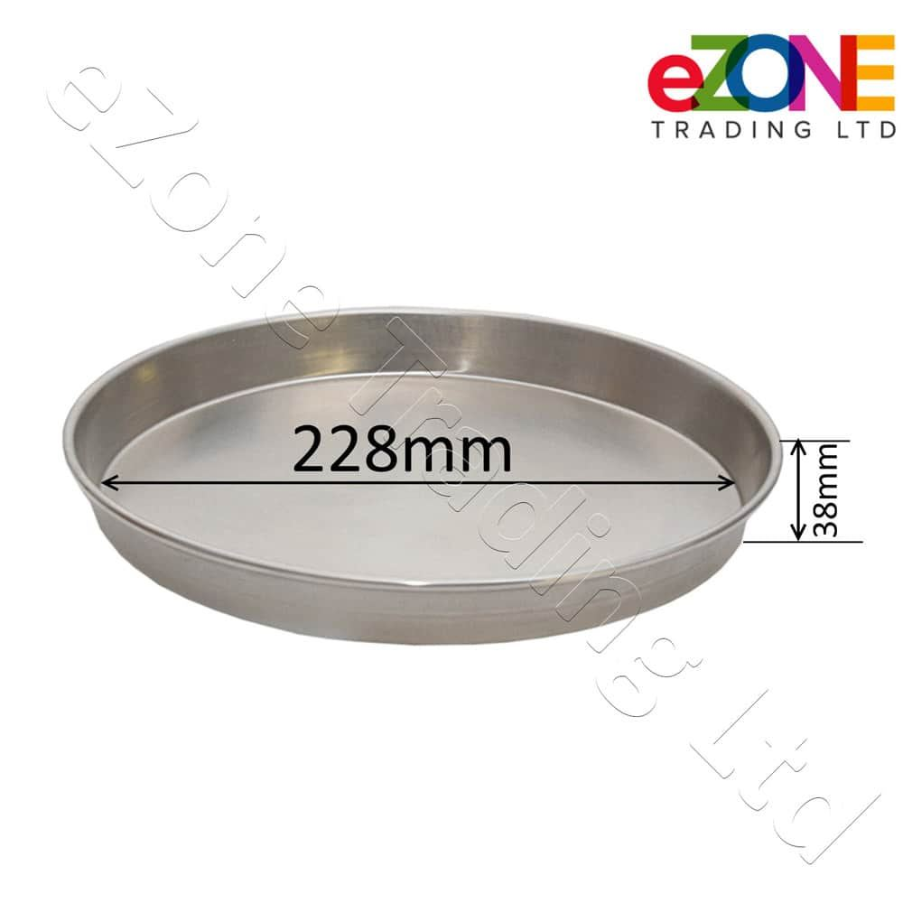 Aluminium-Deep-Pizza-Pan-Baking-Tray-Dish-9-10-12-034-RIM-1-5-034-commercial-Quality miniature 5
