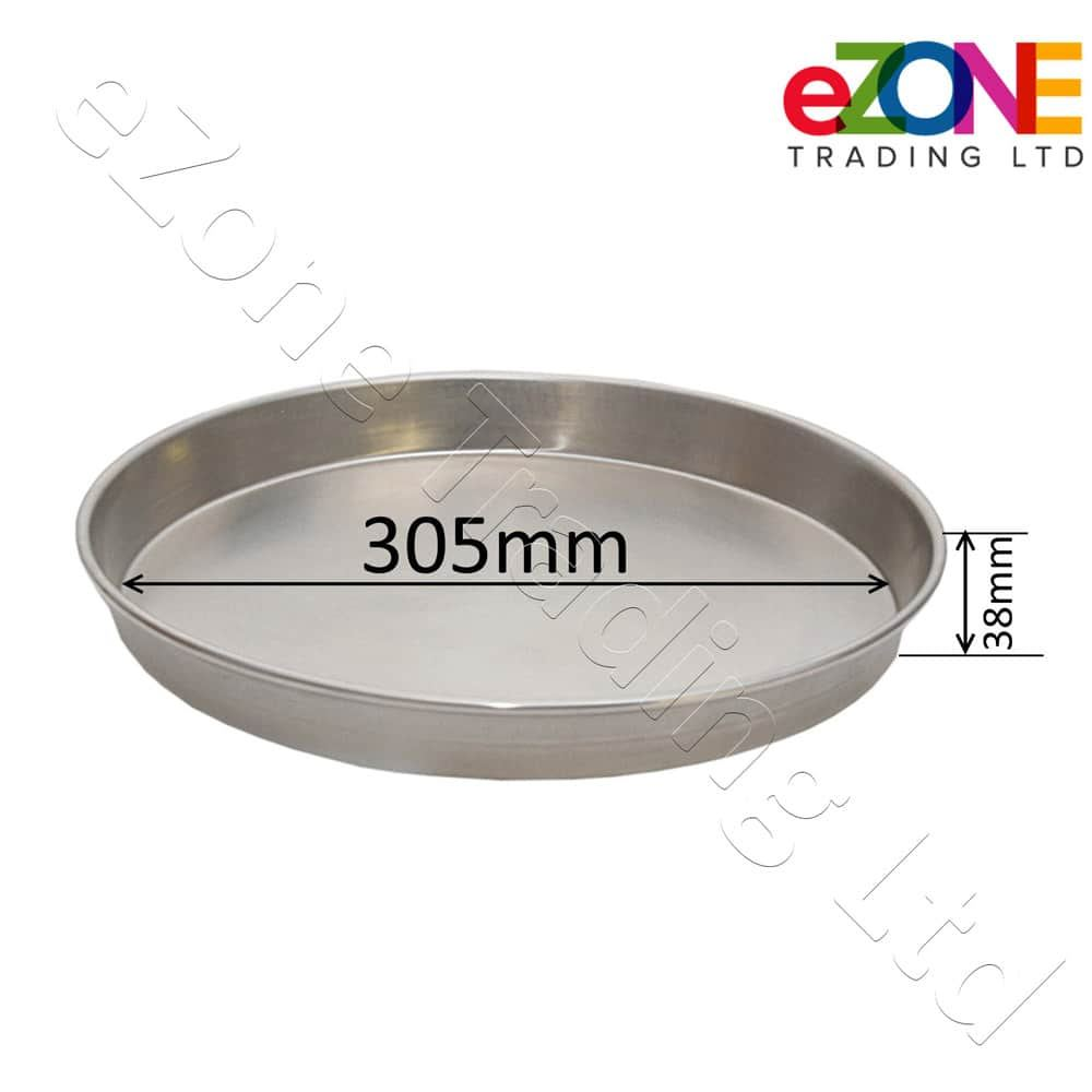 Aluminium-Deep-Pizza-Pan-Baking-Tray-Dish-9-10-12-034-RIM-1-5-034-commercial-Quality miniature 11