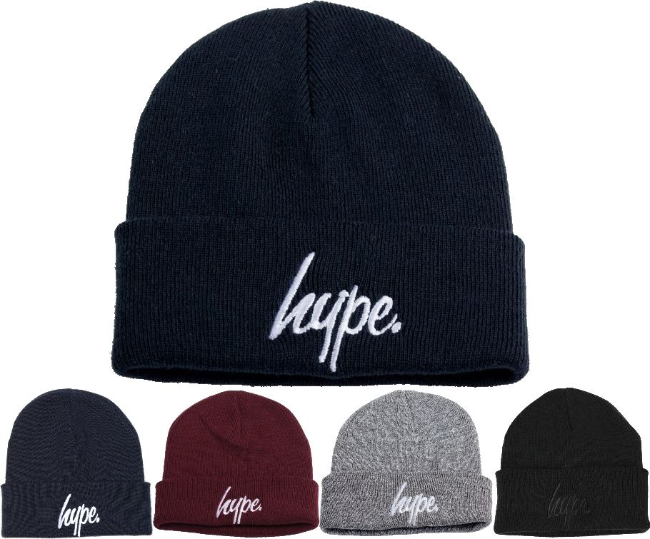 Hype Beanie Hat Script Logo - Black 3d9101bec1a