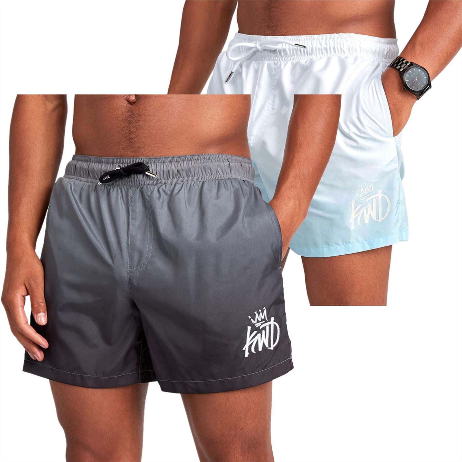 dcc0f8e4e4 Kings Will Dream Ansonia Ombre Swim Shorts - Grey, White - XS, S, M ...