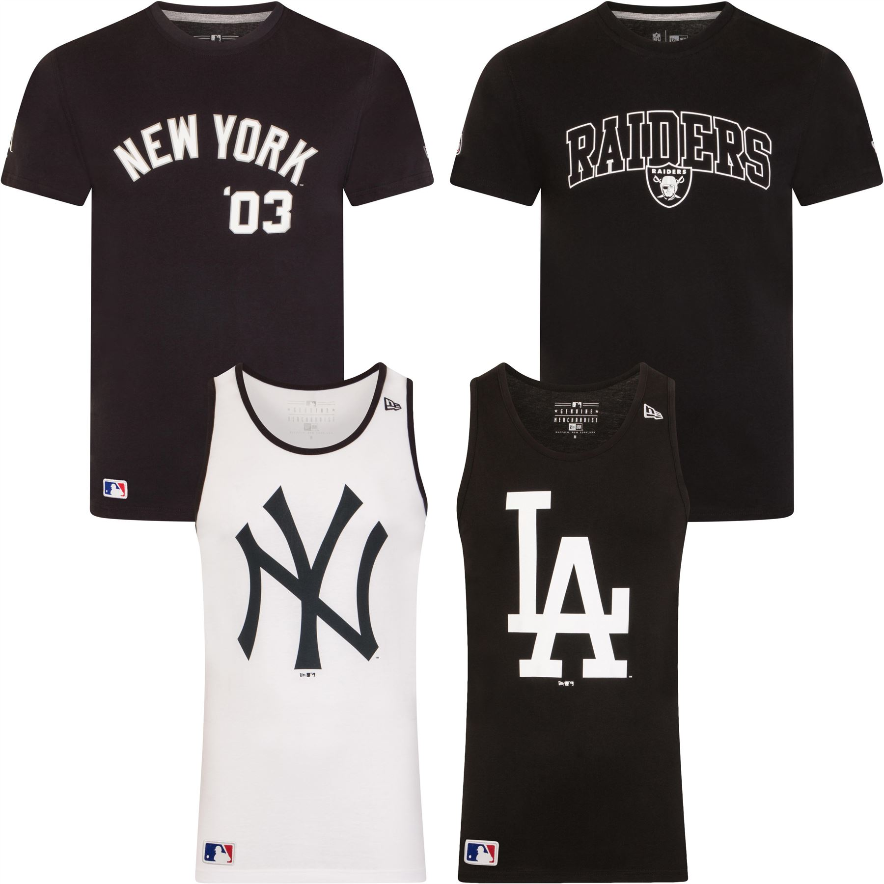 New Era T-Shirt   Vest Tops NY Yankees LA Dodgers MLB NFL Assorted Styles 42fcf2417ab