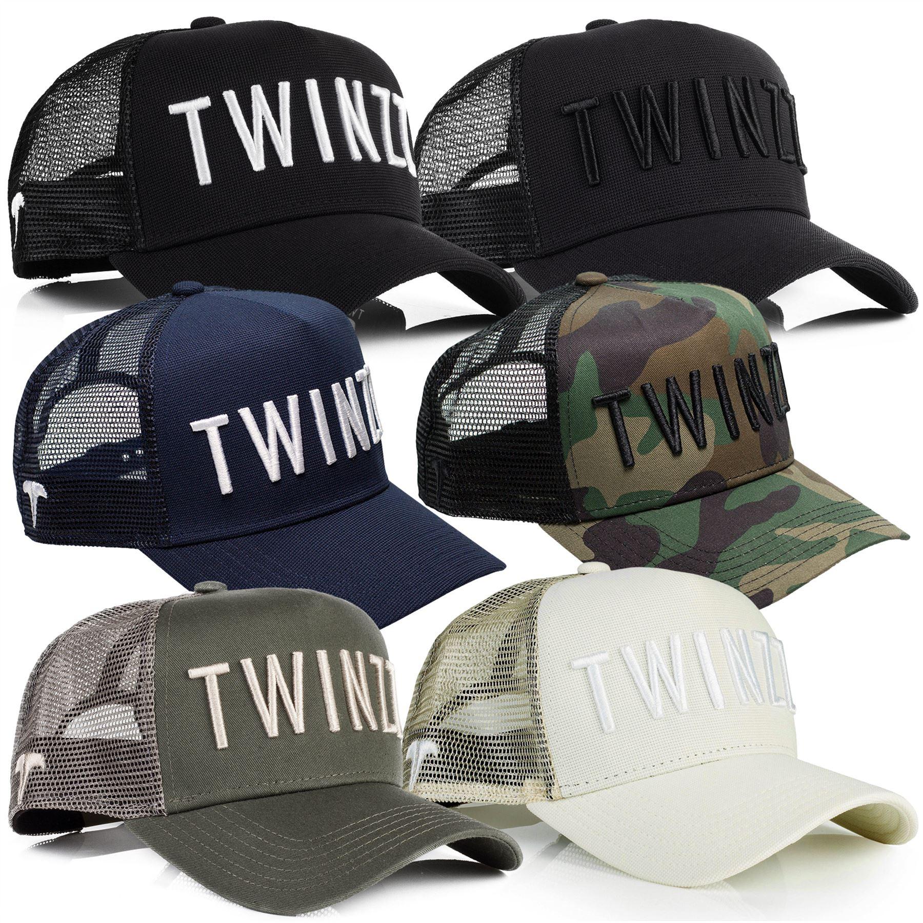 7c8d4c6f37e Twinzz 3D Mesh Trucker Adjustable Baseball Cap - Black