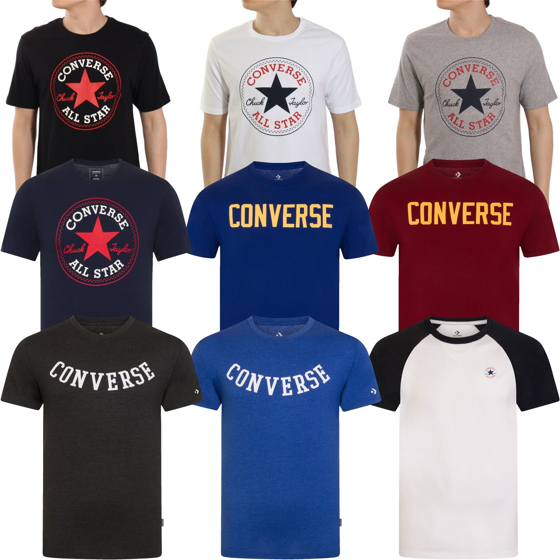 Details about Converse T Shirt & Tops All Star Logo Chuck Assorted Styles S, M, L, XL