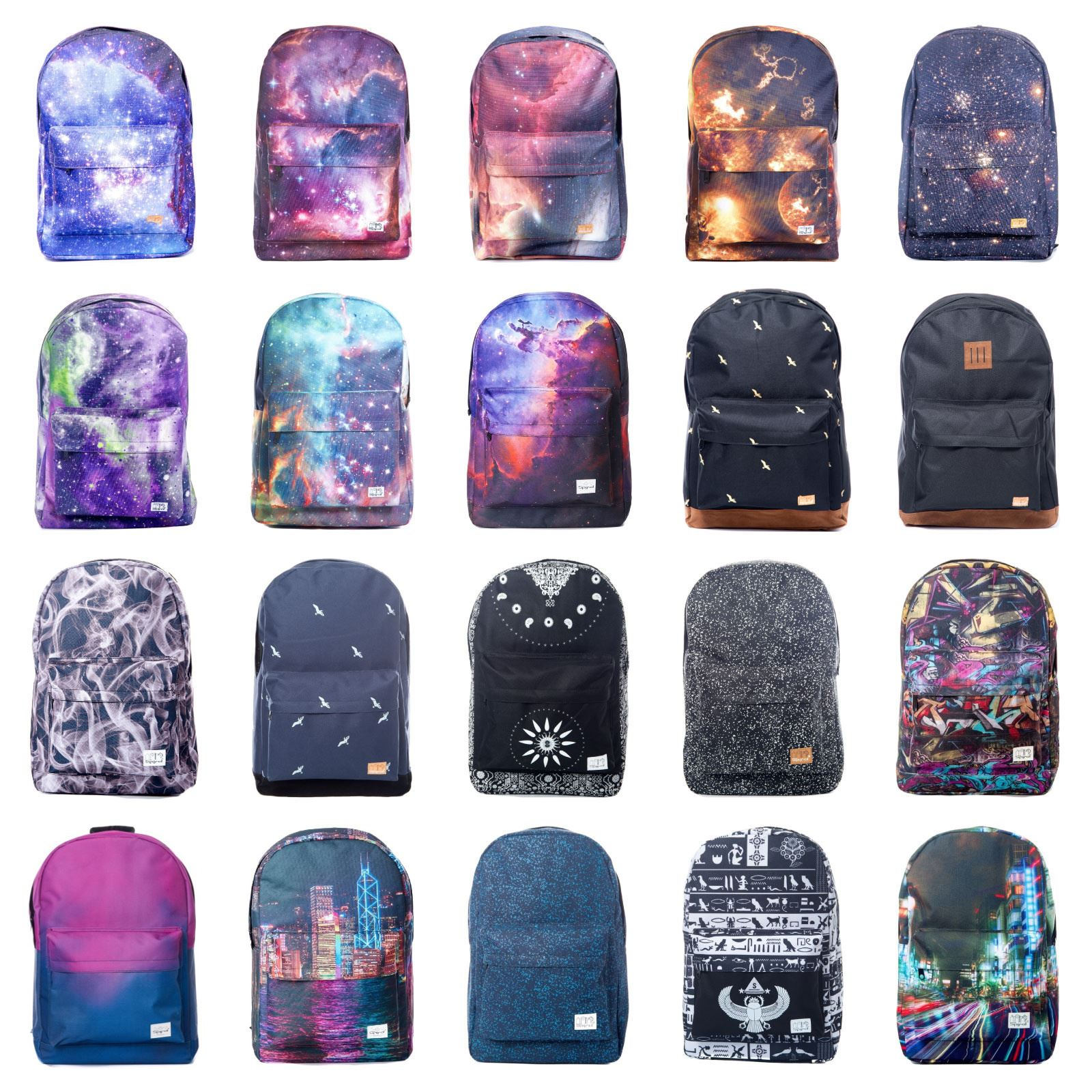 190376bac7 Spiral Unisex OG Backpack Rucksack Bags - Various Galaxy Prints & Plain  Colours
