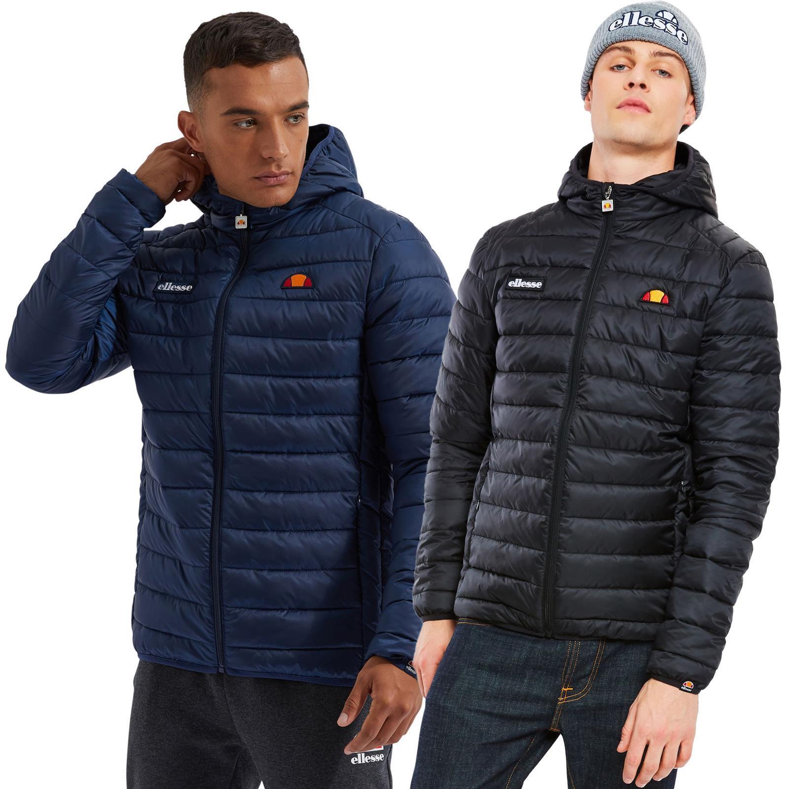 Blue Ellesse Lombardy Padded Jacket M S Black XL Grey L