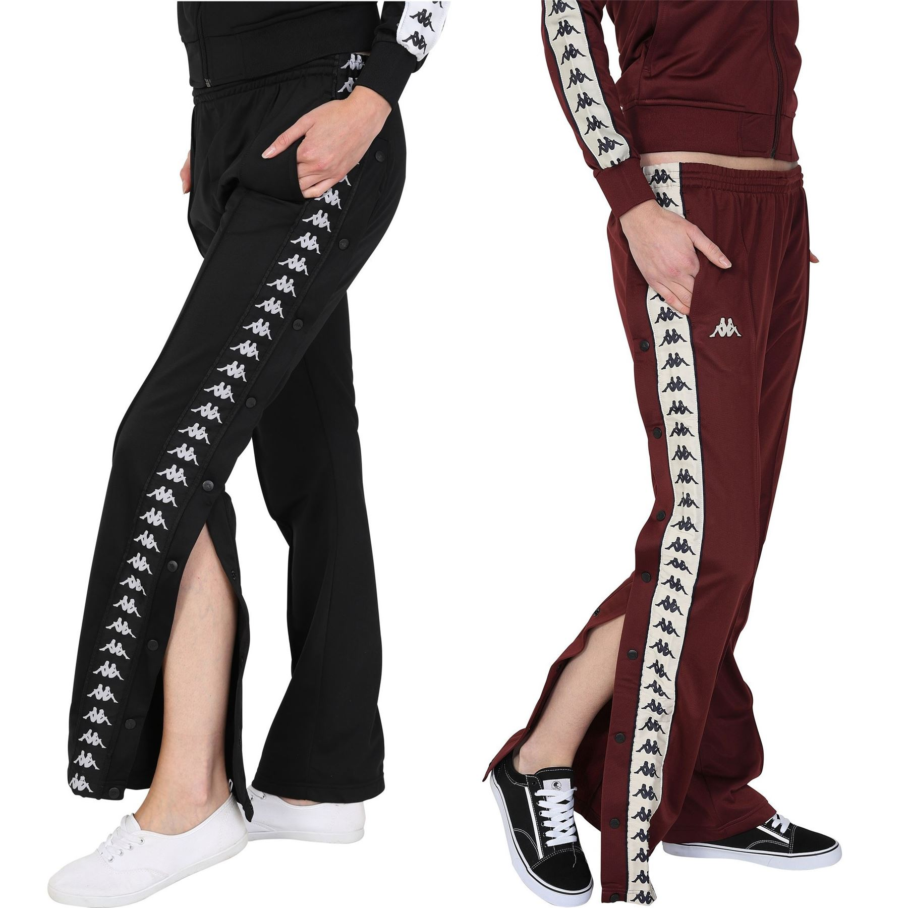 a2758b1c09 Details about Kappa Women's Wastoria Track Pants Jogger Bottoms