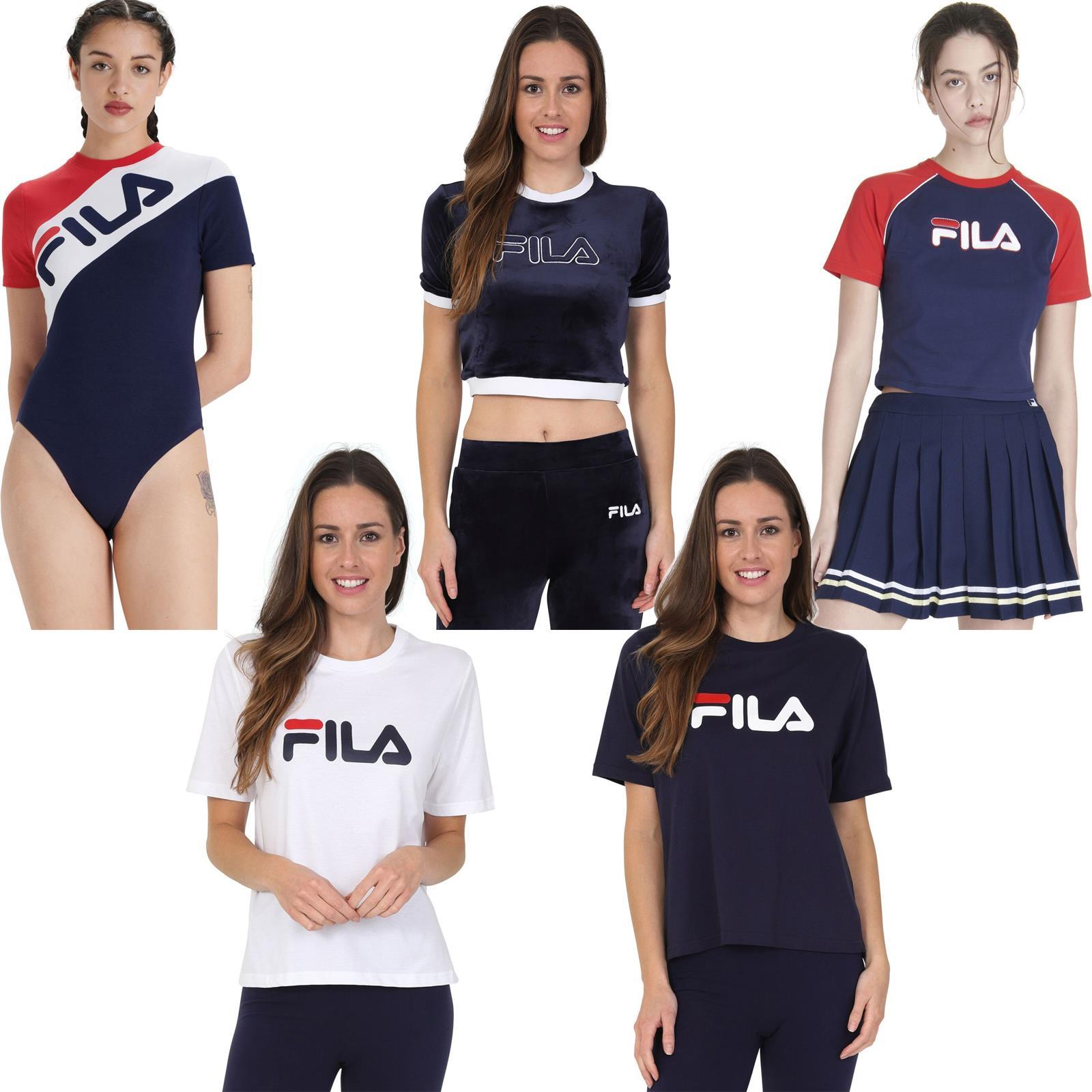 Détails sur Fila T Shirt & Haut Femmes Assortis Compatible avec Styles
