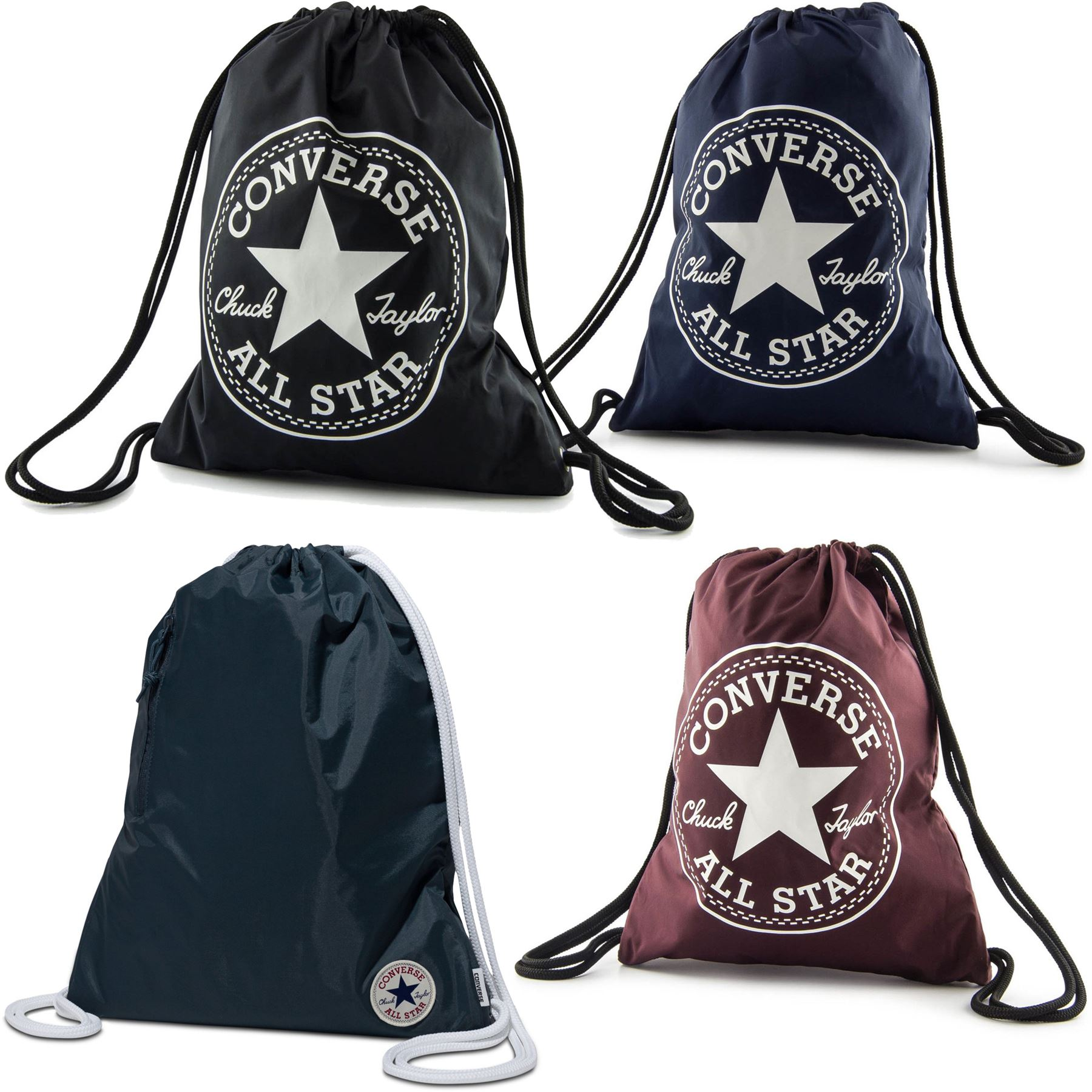0bc237c60a2 Details about Converse Gym Bag Drawstring Bag - Black, Grey, Navy, Pink,  Blue