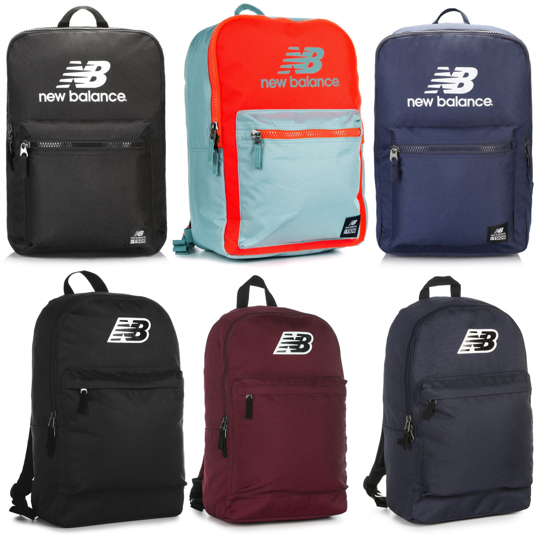 0b810016f9 New Balance Backpack Assorted Rucksack Bags - Black, Blue, Orange | eBay