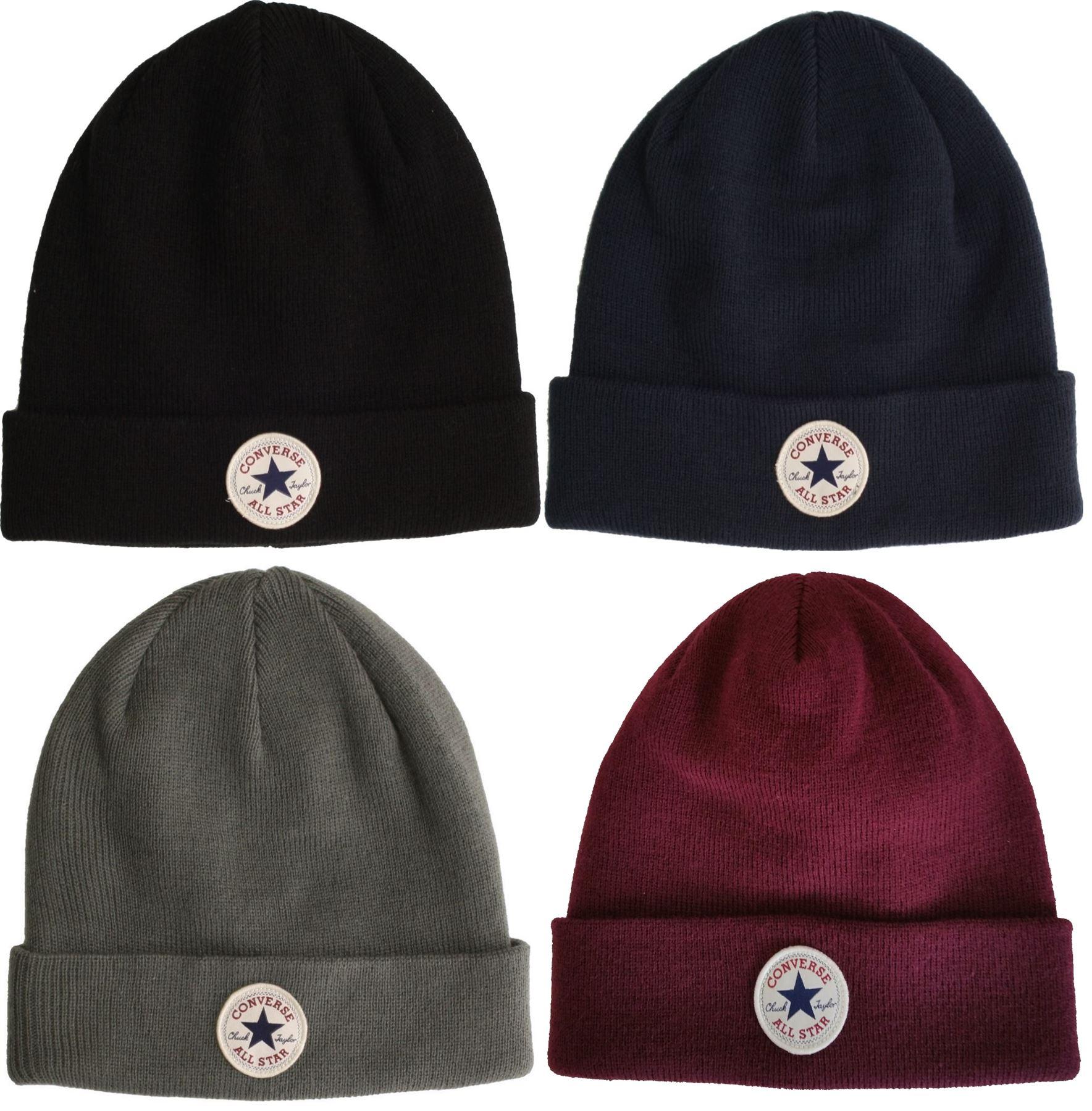 6a8fbf9e990 Converse Beanie Bobble Hats All Star Classic Knitted - Black