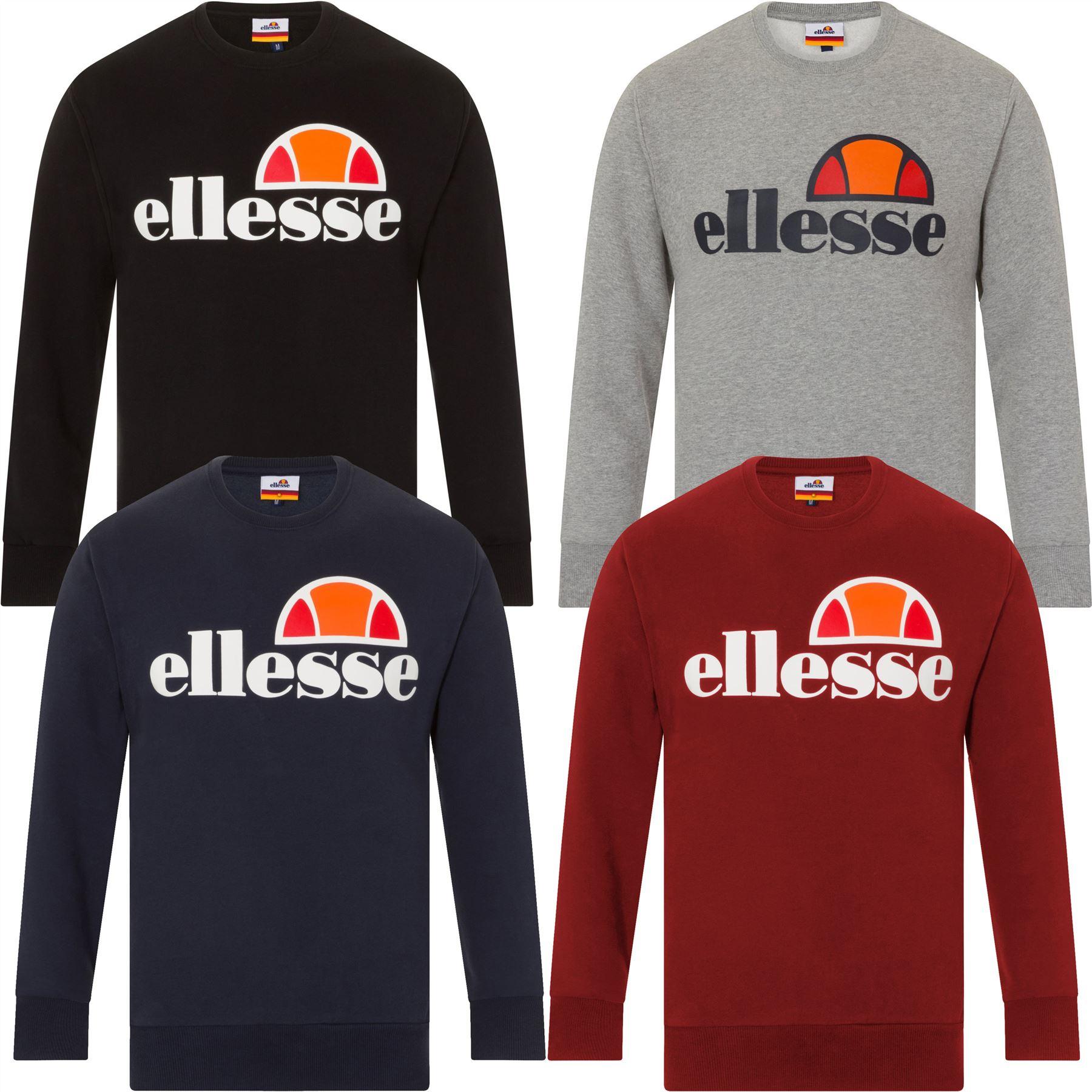 New Men/'s Ellesse Crew Neck Smash Sweatshirt Top Burgundy Size XXL RRP£45