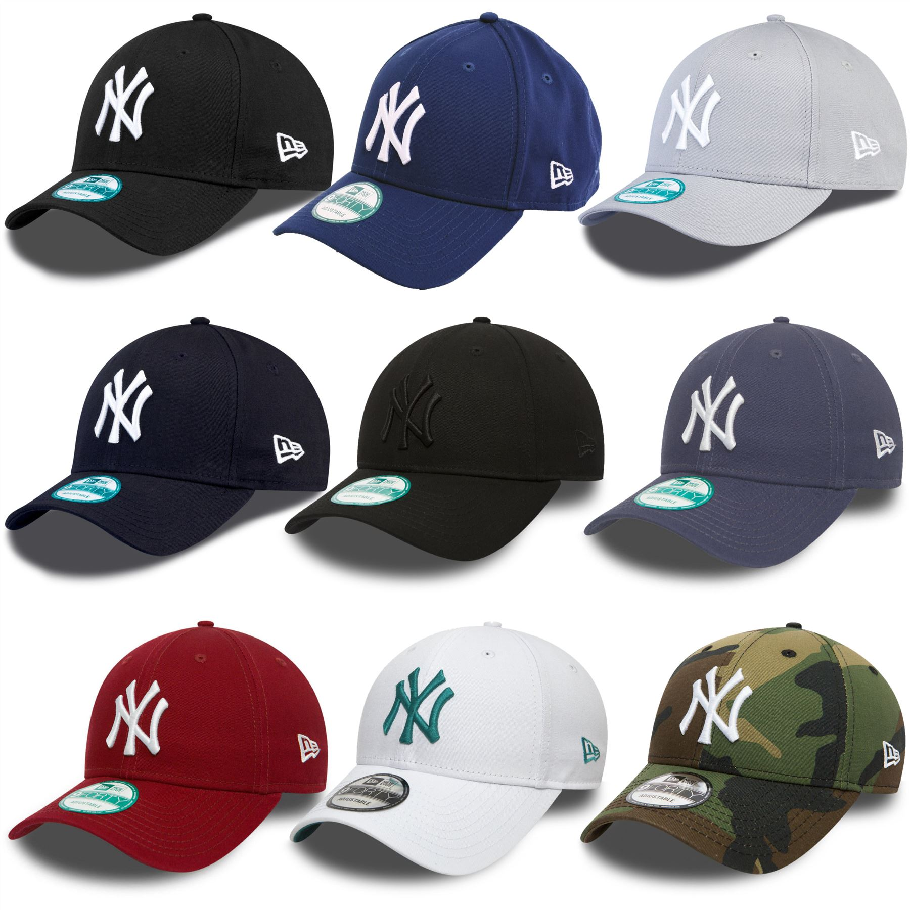 8c25f2321cd04 ... sale new era 9forty new york yankees adjustable baseball cap black blue  grey f260d 0f3fd